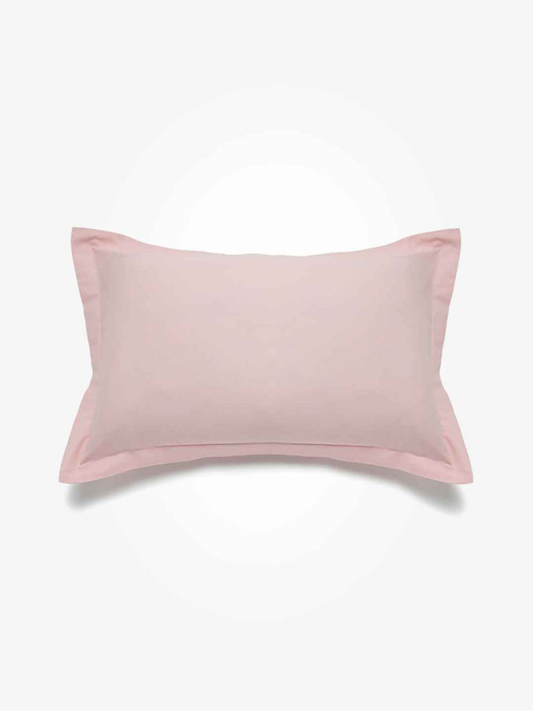 Westside Home Light Pink 144 Thread Count Set of Two Pillowcases