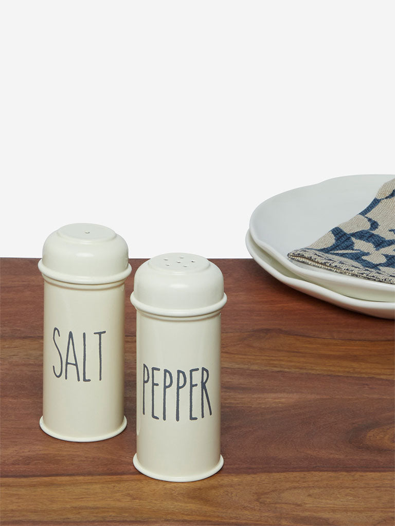 Westside Home Off-White Salt And Pepper Shaker Set