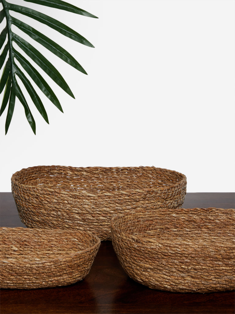 Westside Home Beige Set of Three Baskets