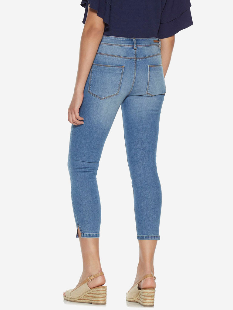 LOV Blue Faded Wash Cropped Jeans