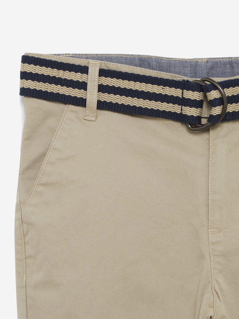 Y&F Kids Beige Chinos With Belt