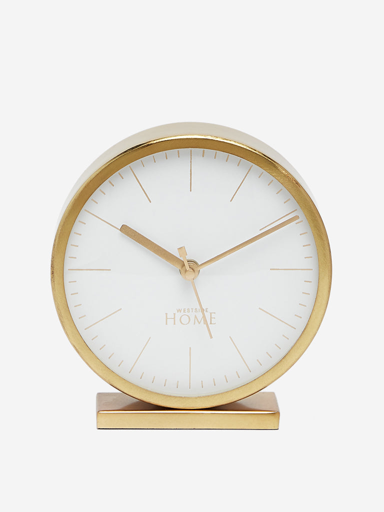 Westside Home Gold Round Table Clock