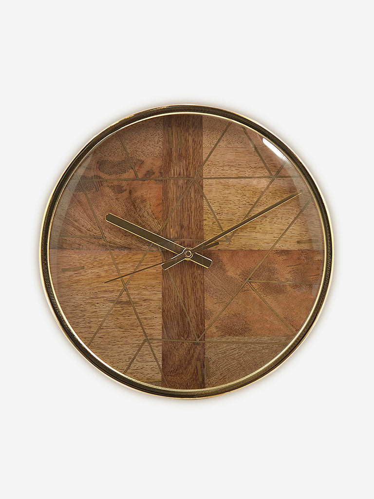 Westside Home Brown Wooden Clock