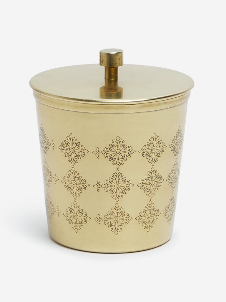 Westside Home Gold Small Etched Jar