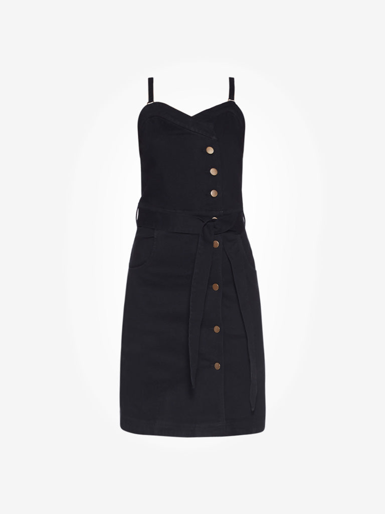 Nuon Black Libra Denim Dress