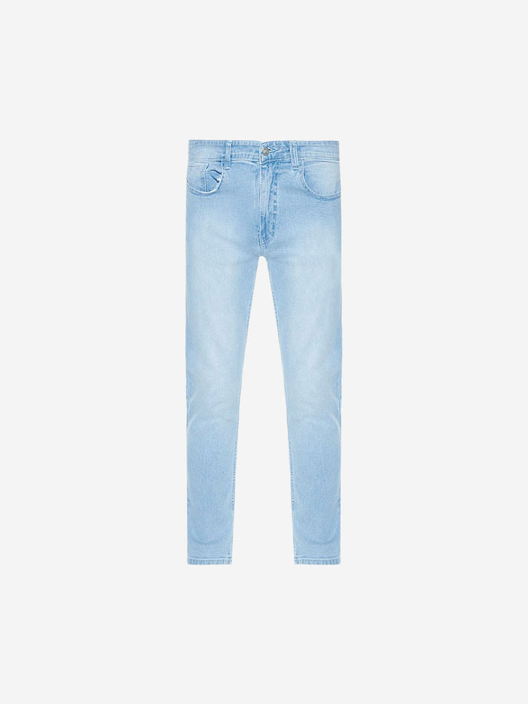 Nuon Light Blue Carrot Fit Rodeo Jeans