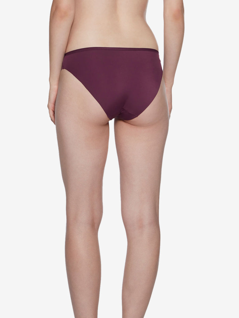 Wunderlove Burgundy Hi-Leg Invisible Briefs