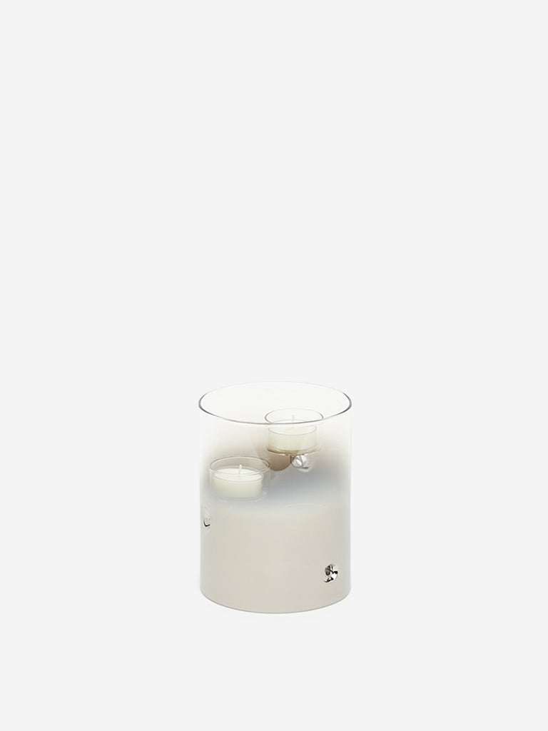 Westside Home Grey Small Triple Tealight Candle Holder