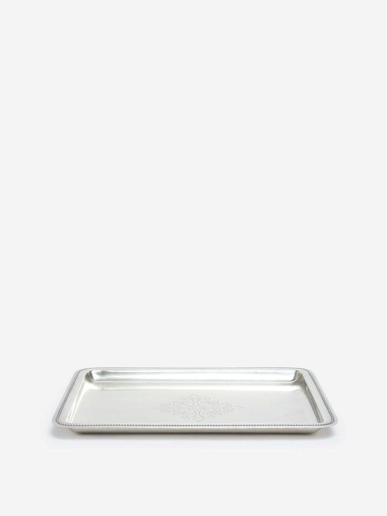 Westside Home Silver Large Metallic Tray