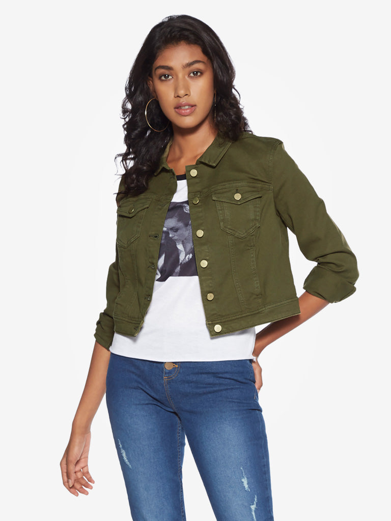 Nuon Khaki Denim Jacket