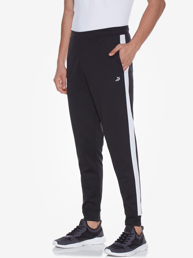 Studiofit Black Panel Detailed Slim Fit Joggers