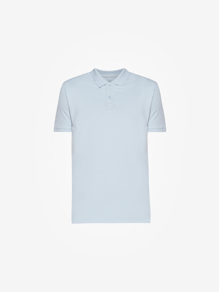 WES Casuals Light Blue Slim Fit Polo T-Shirt