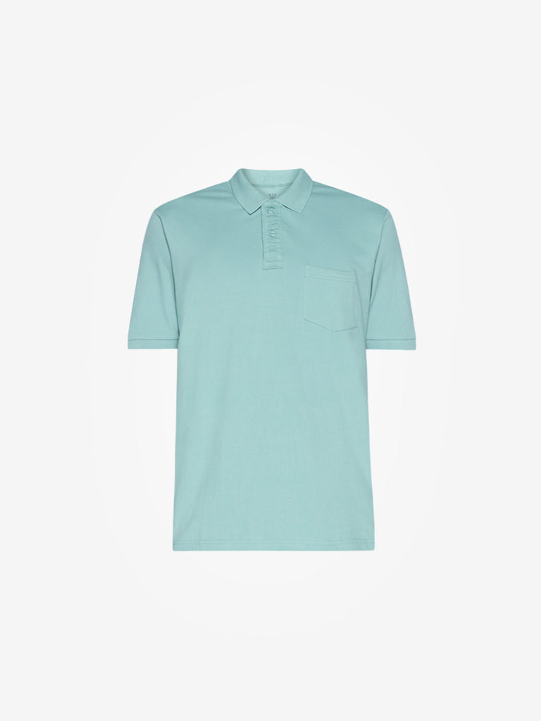 WES Casuals Mint Relaxed Fit Polo T-Shirt