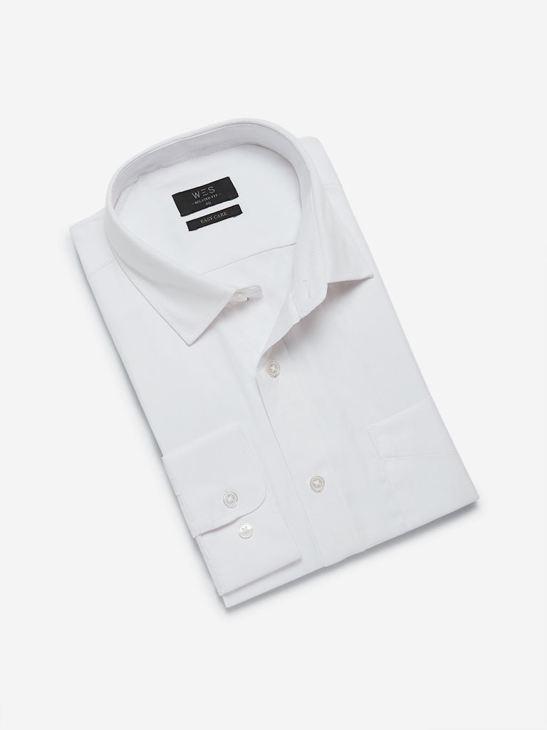 WES Formals White Relaxed Fit Shirt