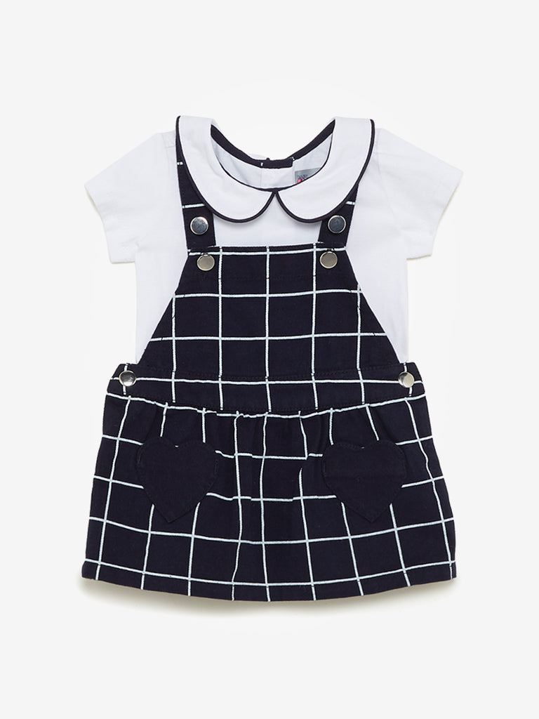 Baby HOP Kids Navy T-Shirt And Pinafore Set