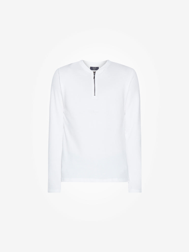 Ascot White Slim-Fit T-Shirt