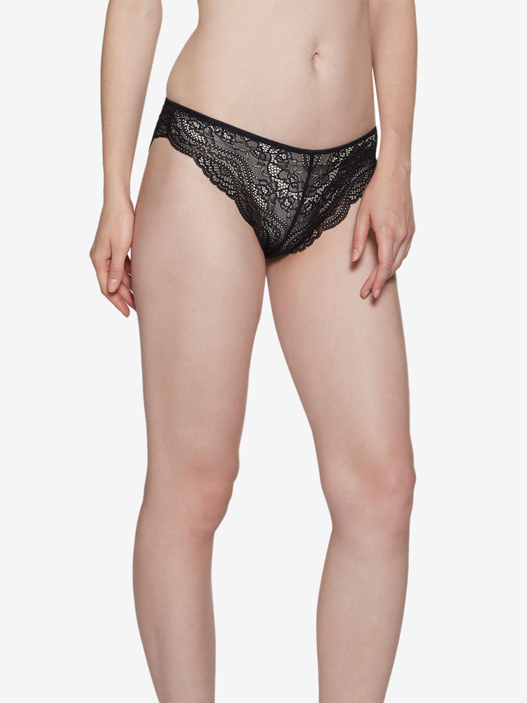 Wunderlove Black Sunshine Brazilian Briefs