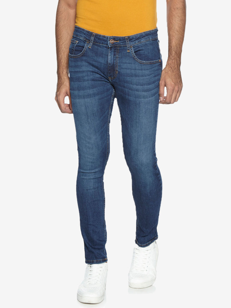 Nuon Nuo Flex Blue Skinny Fit Rocker Jeans