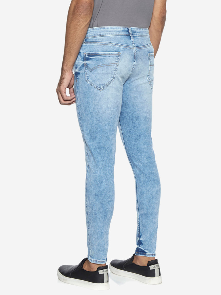 Nuon Nuo Flex Light Blue Carrot Fit Rodeo Jeans