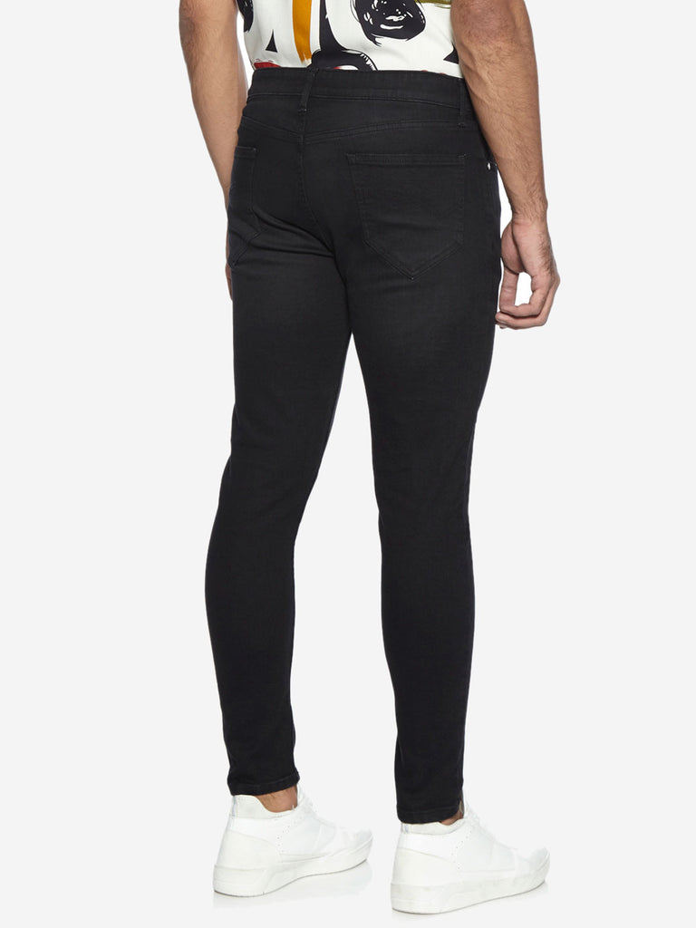 Nuon Nuo Flex Black Carrot Fit Rodeo Jeans