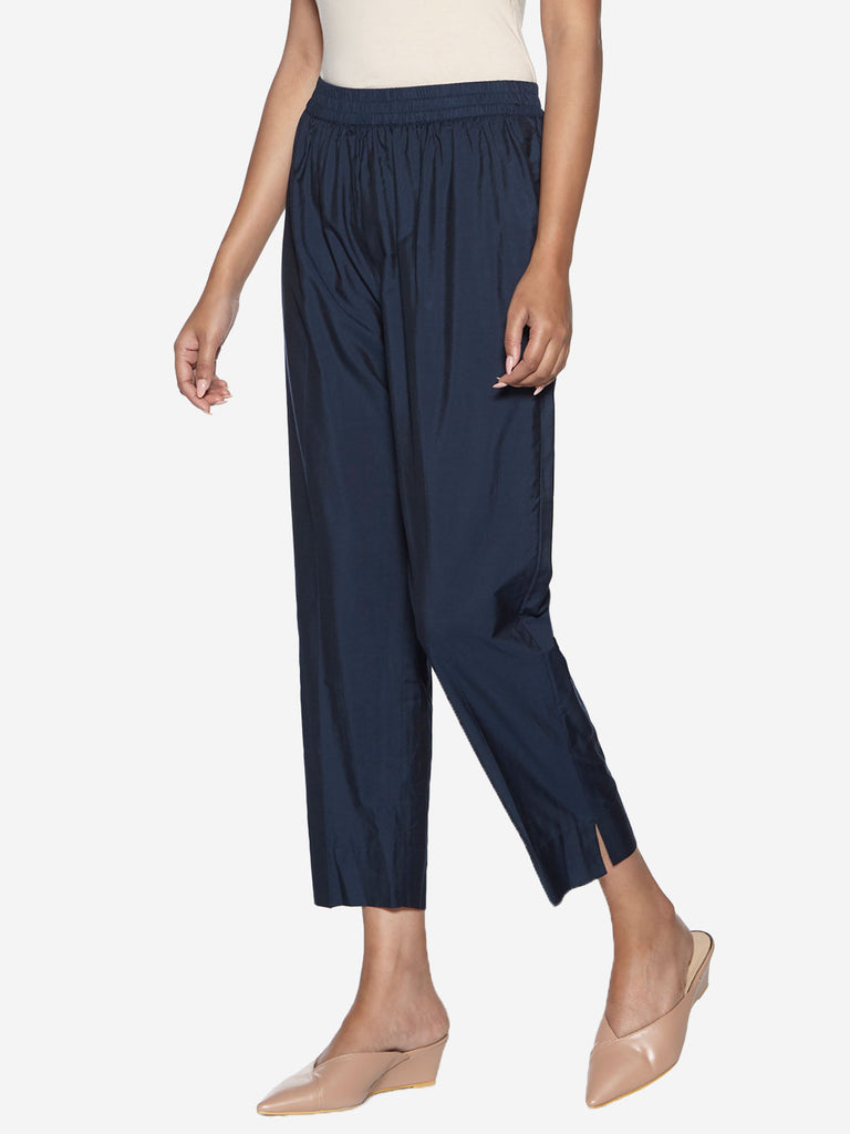 Utsa Indigo Pencil Fit Ethnic Pants