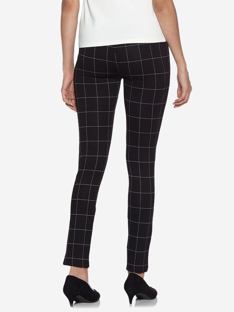 Wardrobe Black Checked Athena Trousers