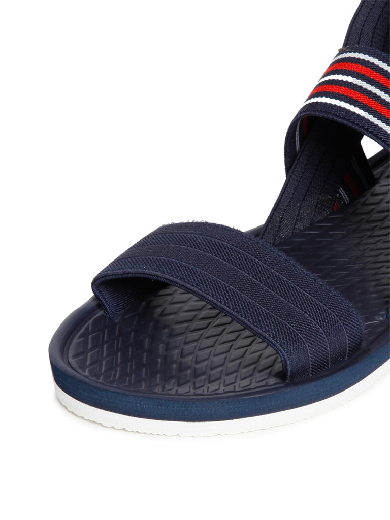 SOLEPLAY Navy Self-Patterned Sandals