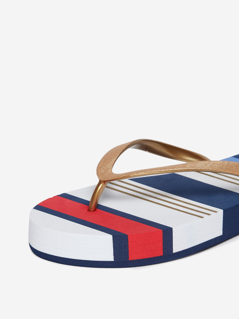 LUNA BLU White Striped Flip-Flops