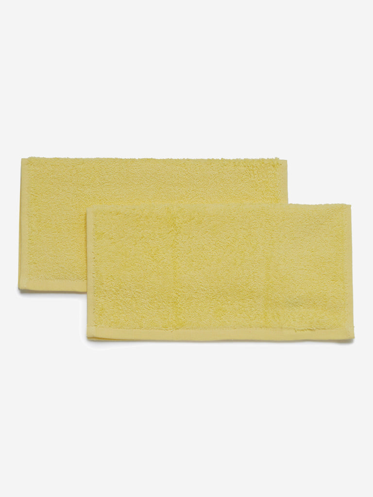 Westside Home Yellow Face Towels Set of Two