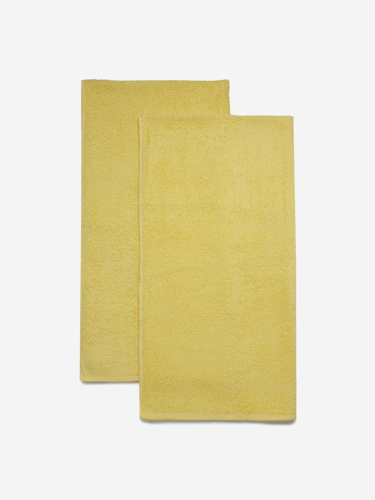 Westside Home Yellow Bath Towels Set of Two