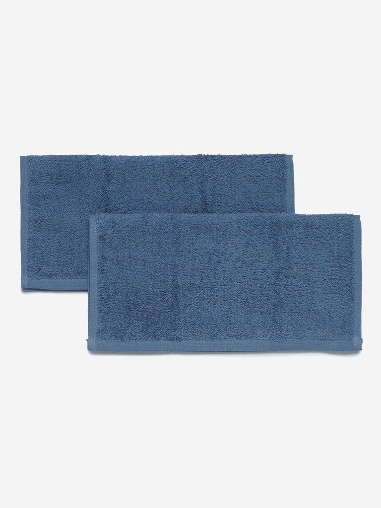 Westside Home Blue Face Towels Set of Two