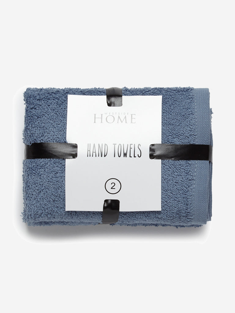 Westside Home Blue Hand Towels Set of Two