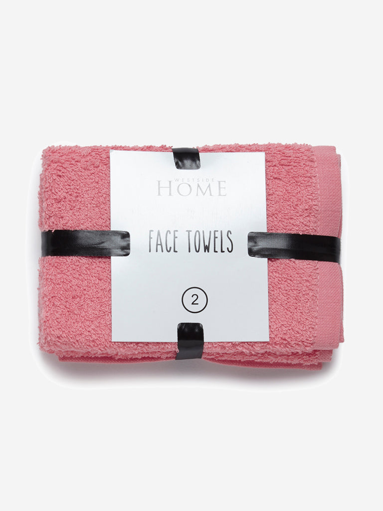 Westside Home Coral Face Towels Set of Two