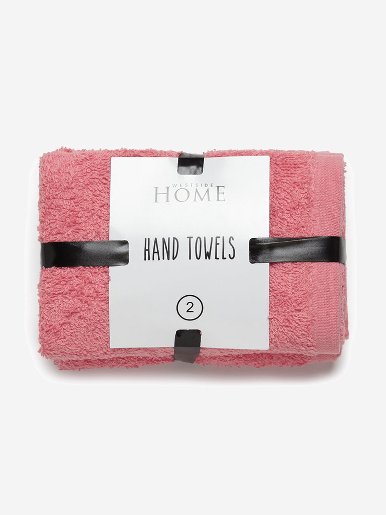 Westside Home Coral Hand Towels Set of Two