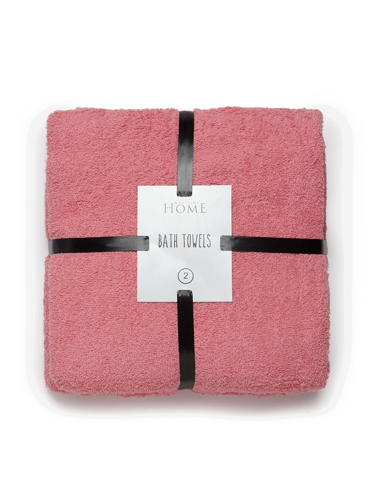 Westside Home Coral Bath Towels Set of Two