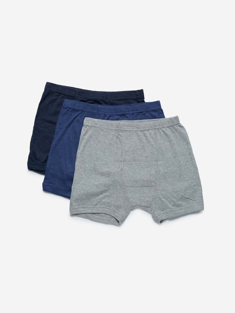 WES Lounge Grey Trunks Set of Three
