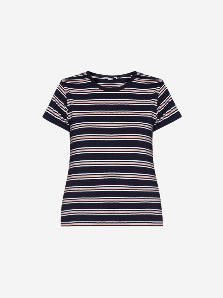 Nuon Navy Striped Sam Crop T-Shirt