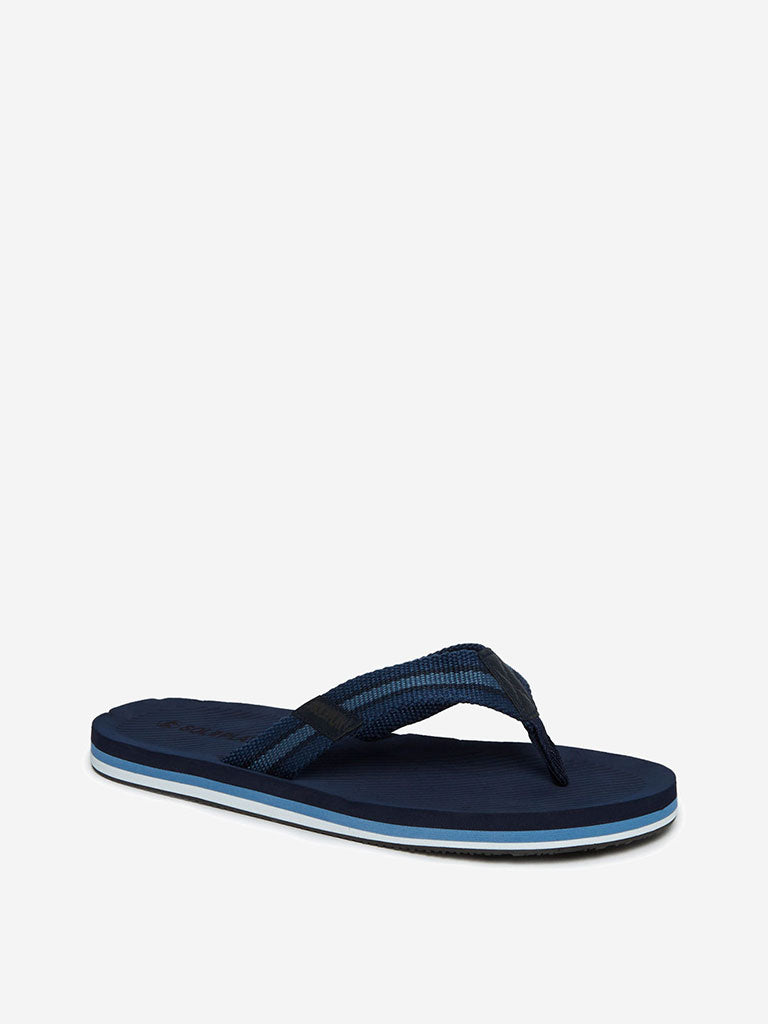 SOLEPLAY Navy Textured Flip-Flops