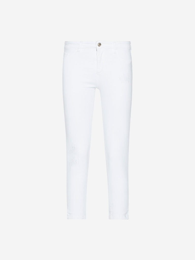 LOV White Distressed Detailed Farana Jeans