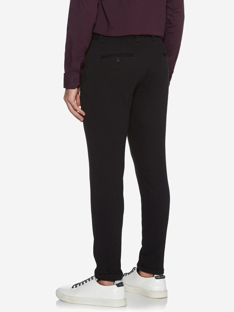 WES Formals Black Carrot Fit Trousers