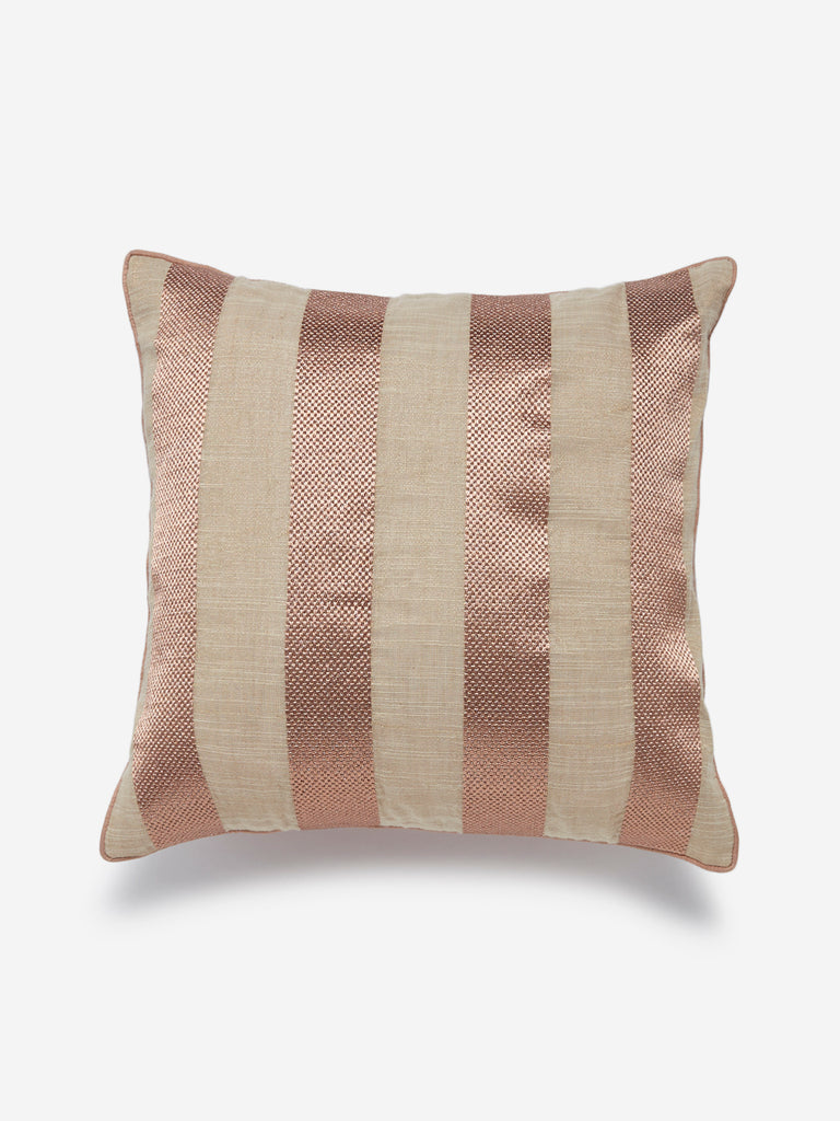 Westside Home Rose Gold Striped Cushion Cover