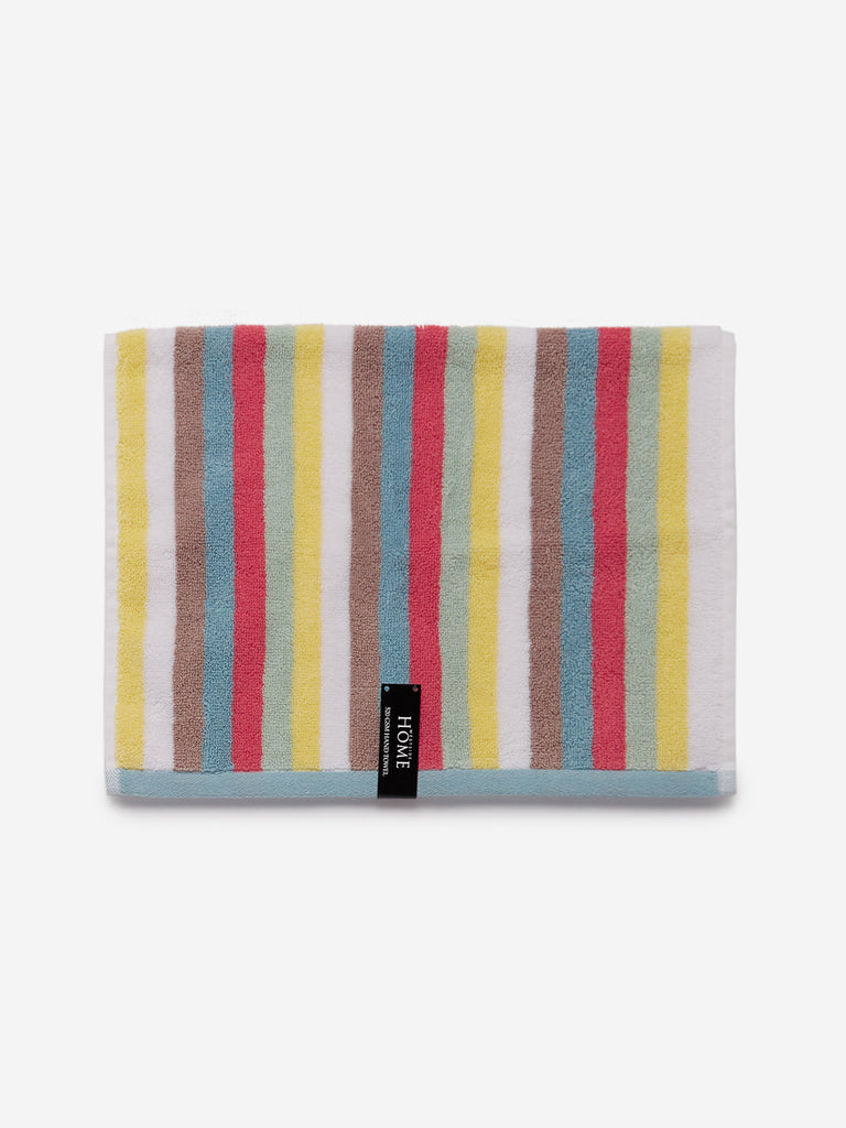 Westside Home Multicolour Vibrant Striped 500 GSM Hand Towel