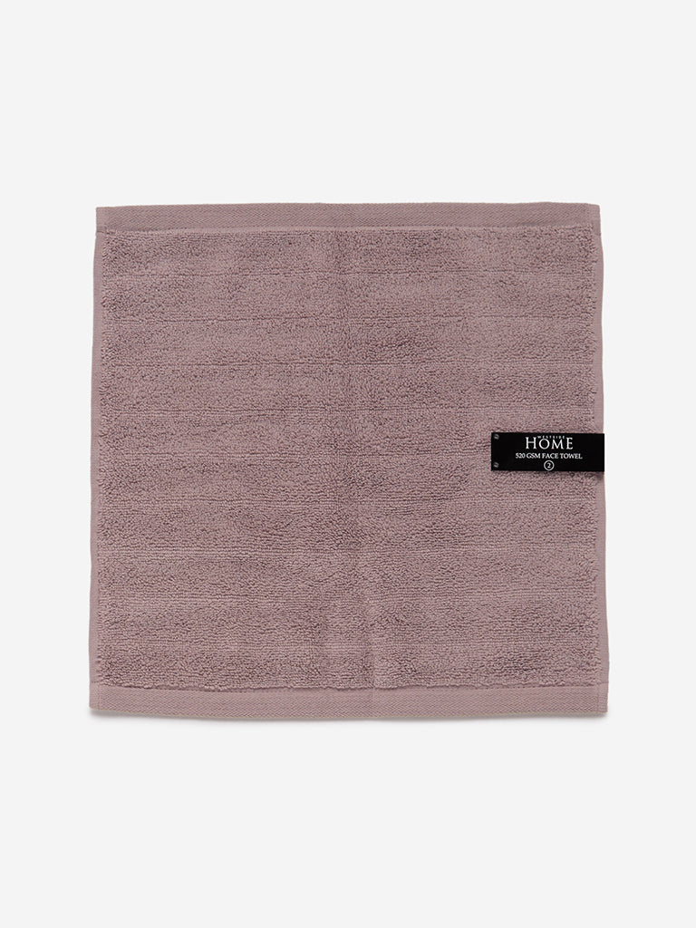 Westside Home Taupe 520 GSM Face Towel Set Of Two
