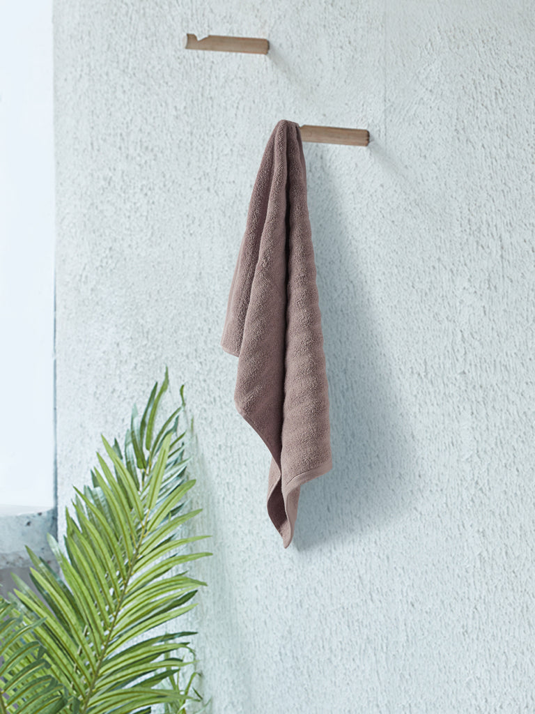 Westside Home Taupe 520 GSM Hand Towel