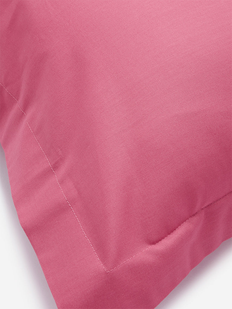 Westside Home Dark Pink Pillowcase Set of Two