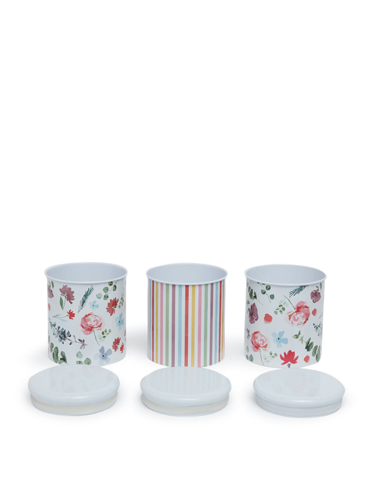 Westside Home Multicolour Floral Canisters Set of Three