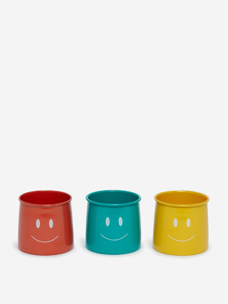 Westside Home Multicolour Mushroom-Style Containers Set