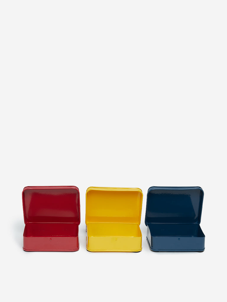 Westside Home Multicolour Snack Boxes Set of Three