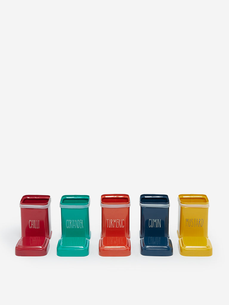 Westside Home Multicolour Spice Boxes Set of Five