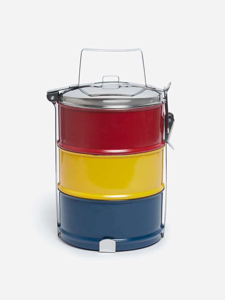 Westside Home Multicolour Three-Tier Tiffin Box